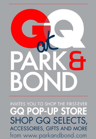 This is where you need to go to get my holiday shopping done. GQ Pop-Up Shop in collaboration with Park & Bond.   Dates: December 8-18 (closed December 12 & 13). Address: 414 W. 14th Street, Between 9th Ave. and Washington St. Hours: Sunday-Wednesday, 11:00am-6:00pm; Thursday 11:00am-8:00pm; Friday-Saturday, 11:00am-10:00pm.