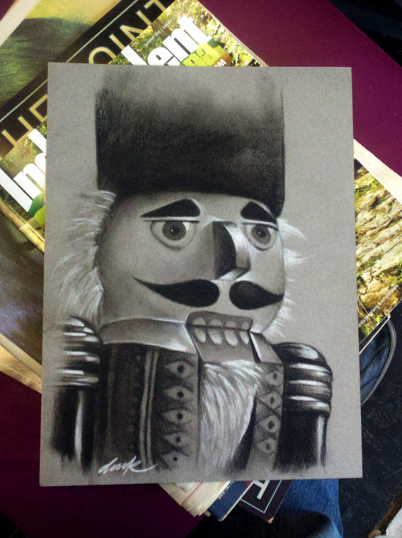 "derekzielinski:  35in35 Project 9:26""Nutcracker""9x12 Charcoal derekzielinski@hotmail.com"