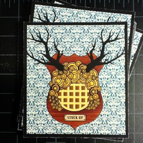 Stuck Up: a waffle sticker exclusively for the Stick Em Up show in January.