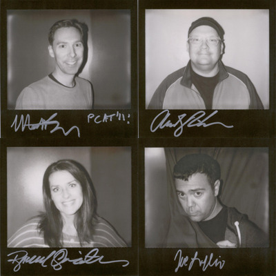 Original portroids from PARDCAST-A-THON 2011 up for auction now! 100% of proceeds benefit Smile Train. This set includes: Matt Belknap, Andy Richter, Rachel Quaintance, and Joe Lo Truglio.
