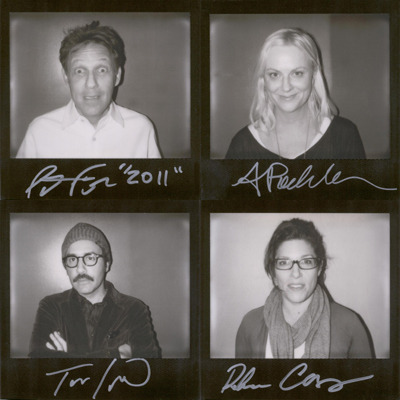 Original portroids from PARDCAST-A-THON 2011 up for auction now! 100% of proceeds benefit Smile Train. This set includes: Pat Francis, Amy Poehler, Todd Levin, and Rebecca Corry.
