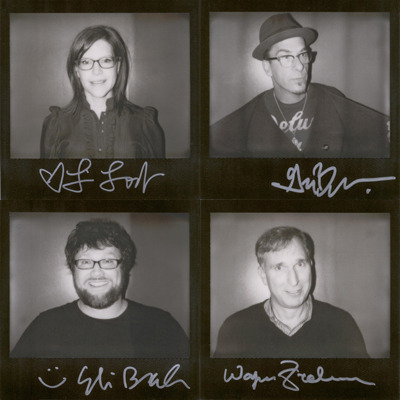 Original portroids from PARDCAST-A-THON 2011 up for auction now! 100% of proceeds benefit Smile Train. This set includes: Lisa Loeb, Greg Behrendt, Eli Braden, and Wayne Federman.