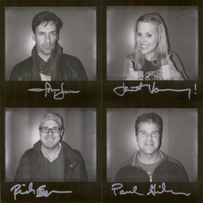 Original portroids from PARDCAST-A-THON 2011 up for auction now! 100% of proceeds benefit Smile Train. This set includes: Jon Hamm, Janet Varney, Rich Sommer, and Paul Gilmartin.