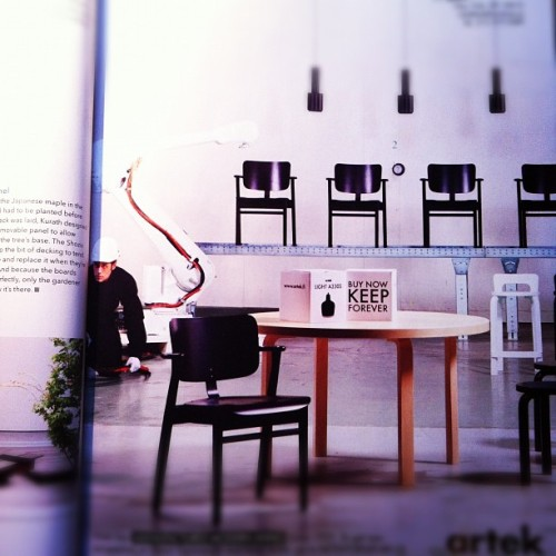 "#artek at the newest #dwell magazine: ""buy now, keep forever"" (Taken with instagram)"