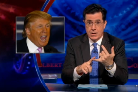 funnyordie:  Stephen Colbert Takes On Trump, Announces His Own Debate Trump is back. And Stephen Colbert was waiting for him with open arms.