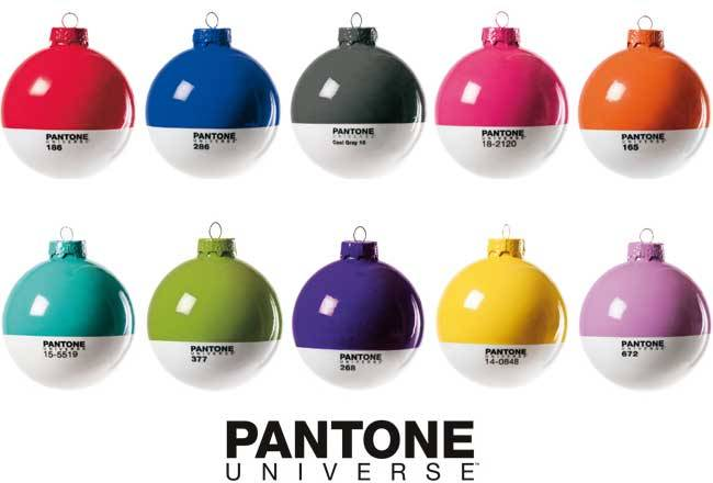 ARTISTICALLY INSANE HOLIDAY GIFT #1 Pantone XMAS Balls Rock your tree out to the beat of your quirky little heart.