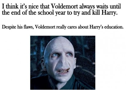 pleatedjeans:  good guy voldemort. via  I try, I really do.