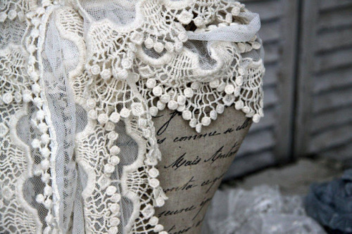 cursive and lace.