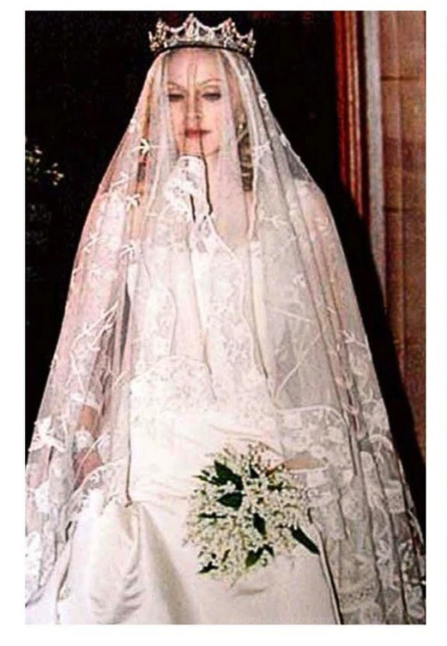 Madonna on her wedding day to Guy Ritchie.