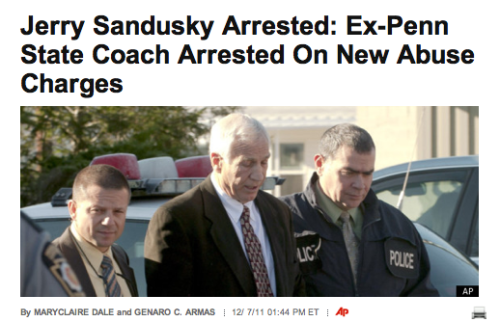Breaking: Ex-Penn State coach Jerry Sandusky has been arrested on new sex abuse charges brought by two new accusers. [AP]