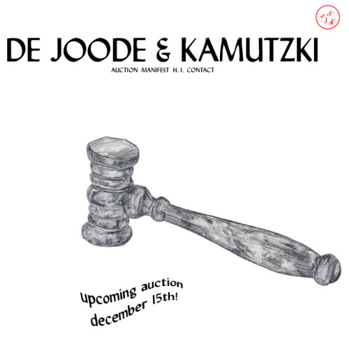 "On Thursday the 15th of December, at 20.00h the auction house De Joode & Kamutzki Auctions will host its second auction. Address:  Kottbusser damm 75, doorbell deJoode&Kamutzki. De  Joode & Kamutzki was founded in the beginning of 2011 by  artist/curator Rachel de Joode  and performer/auctioneer Maria Kamutzki. ""We  wish to make contemporary art accessible to all. We don't see art as a  luxury good that one might consider purchasing when they already have  everything else that money can buy. Our mission is to inspire  you to invest in great artwork not for the sake of its resale value,  the status symbol attached to it or as a way to spend surplus money. We  want people to buy art out of love, fascination and admiration. Because  art is essential."" Preparing each auction  exclusively with a different focus, our second auction will present  works made by women. We invited 20 international emerging to mid-career  female artists working in the field of photography, sculpture, digital  arts, drawing or painting. The artists work in diverse fields with differing aesthetic sensibilities. What combines them is their conceptual approach. 24 artpieces will be auctioned, please have a peak at our artworks/artists here. - - - http://dejoodeandkamutzki.com"