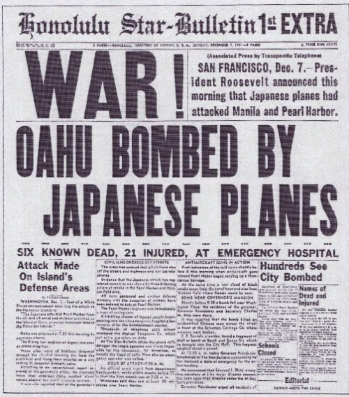 Today's the 70th anniversary of Pearl Harbor. Let's honor those who we lost.