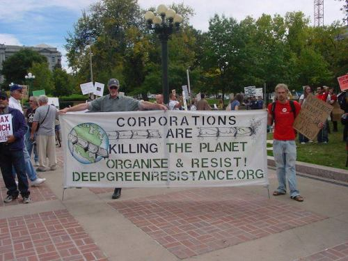 cultureofresistance:  Deep Green Resistance at Occupy Denver.