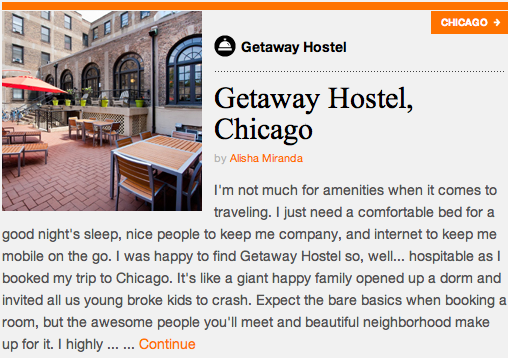 Not For Tourists Review: Getaway Hostel, Chicago