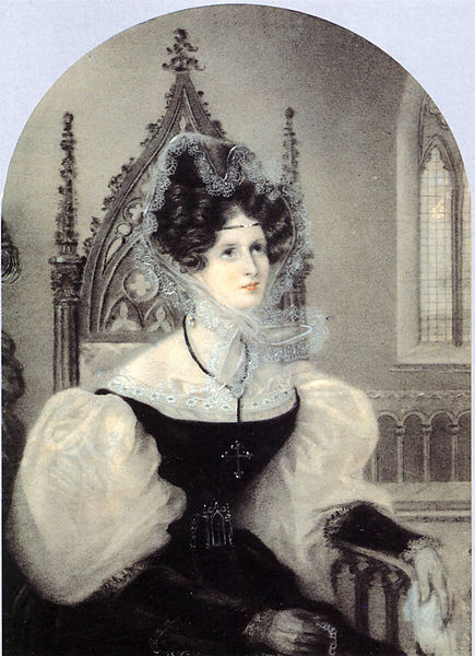 Portrait of Zinaida Volkonskaya by Amelie Munier-Romilly, 1831 Italy