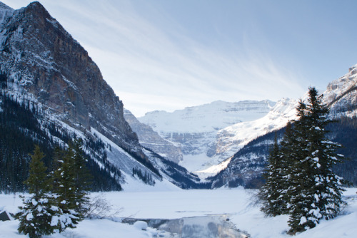 A beauty day here at Lake Louise! Photo by Jennifer Beal. Taken with a Canon 7D and a 24-70mm lens.