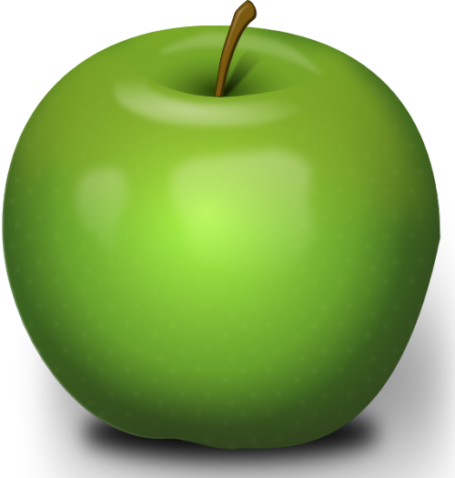 Photorealistic Green Apple