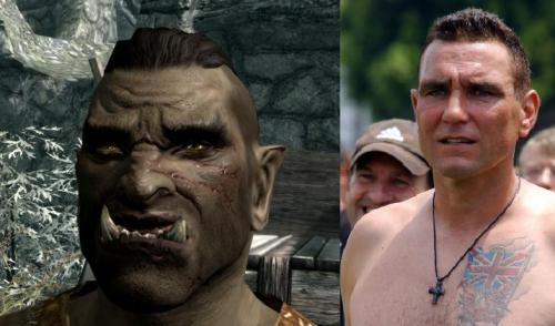 Hey guys, guess who the preset for male Orc is… Vinnie Jones!