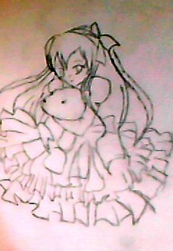 My drawing of anime girl..