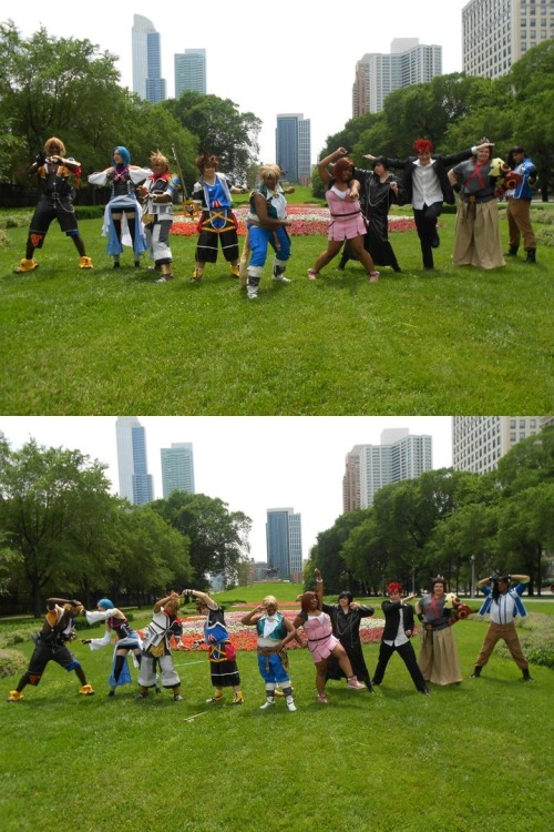 Hmmmm so the silly photo we did at my Square Enix meetup from this past summer made over 1,000 views. Awesome. GO GO FANTASY RANGERS by =roxastuskiomi