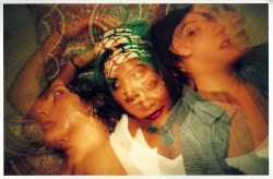 me and my fwends, double exposure test shot with mah new cam :)   they're scans of prints which is why it looks so grainy… i'll properly scan the negatives when time will allow