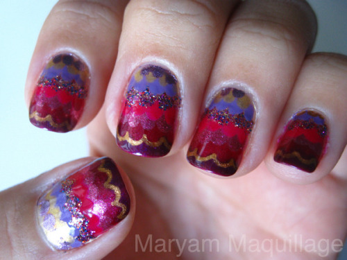 Check out Beautylish Beauty Maryam M.'s festive fish scale ombré nails!