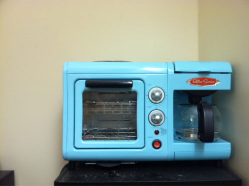 My friend's neat retro coffee-maker/toaster.
