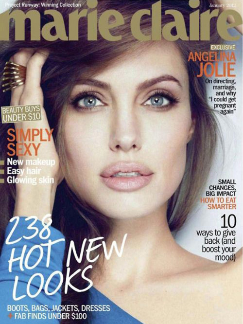 Angelina Jolie - Marie Claire (January 2012)