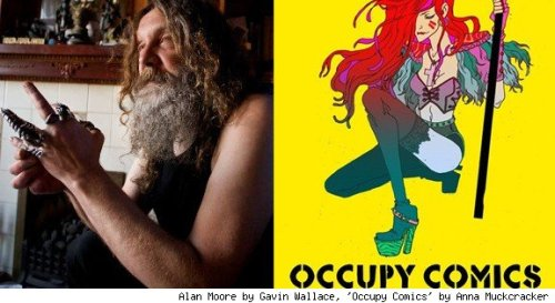"Alan Moore to Contribute to 'Occupy Comics' Anthology  By Andy Khouri Alan Moore will join his V for Vendetta co-creator David Lloyd among the ranks of Occupy Comics, the forthcoming Kickstarter-funded anthology project inspired by Occupy Wall Street and its sister protests around the world. The news comes just days after Moore made a heavily proliferated response to comics creator Frank Miller's dramatic condemnation of the protesters, some of whose activities are in some measure inspired by Moore and Lloyd's work. For Occupy Comics, Moore will contribue a prose piece that according to Wired will ""explore the Occupy movement's principles, corporate control of the comics industry and the superhero paradigm itself."" Read more on this at ComicsAlliance."