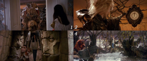"1 movie - 4 frames. ""Labyrinth"", what's the right sequence?"