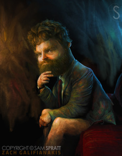 Zach Galifianakis by www.samspratt.com