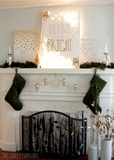 (via Get inspired to decorate your home with these easy and affordable holiday crafts)