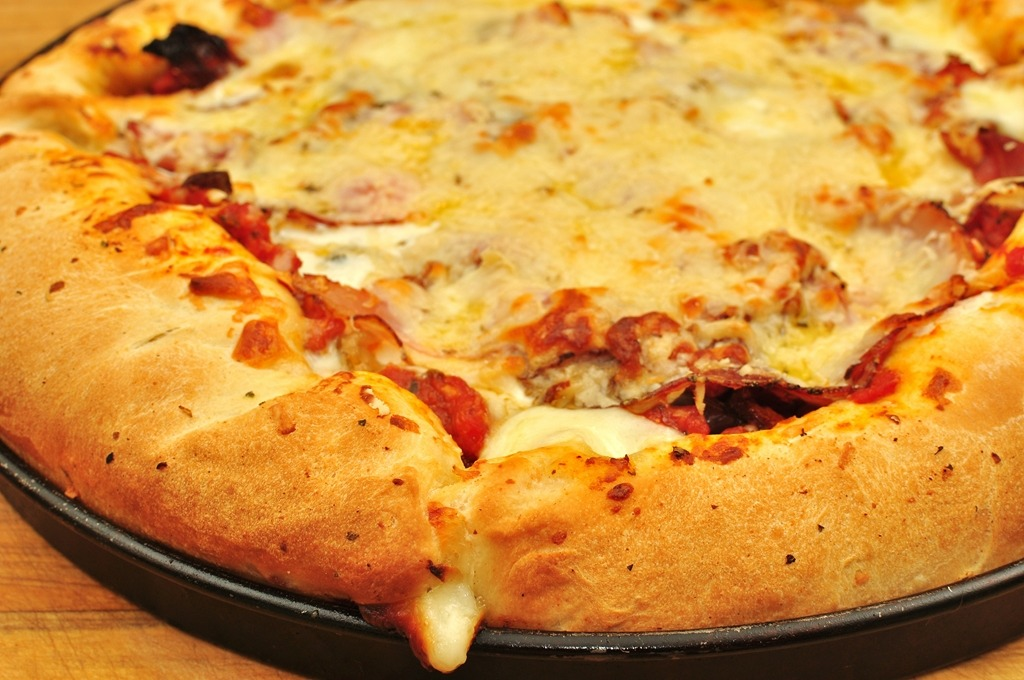 Mmm… Cheese crust pizza!