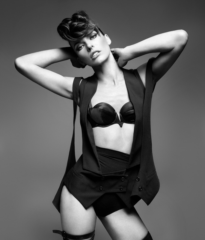 Milla Jovovich shot by Rankin for the premiere issue of Hunger Magazine. Hair by Jenny Cho