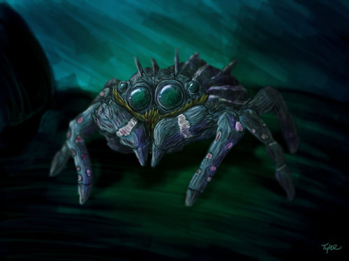 Spiders terrify me. 2 hours in Photoshop.