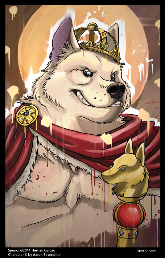 ArtRage messy portrait of a royal white wolf. Not my character, as he belongs to Aaron, but it was a lotta fun. :)