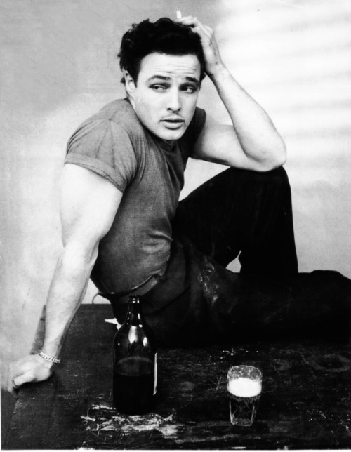 Marlon Brando in a publicity shot for the Broadway rendition of A Streetcar Named Desire (1948)