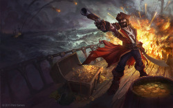 Gangplank Splash Illustration by ~Andantonius