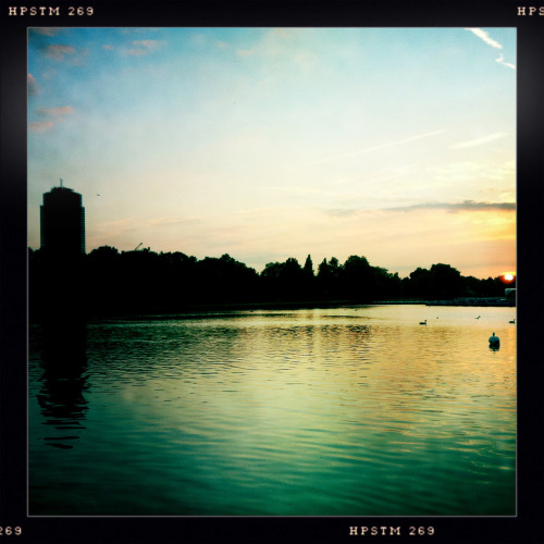 Sun Setting On The Serpentine Lake in Hyde Park