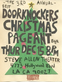 with The Doorknockers (Randy Liedtke and Davey Johnson) Kate Micucci (Garfunkel and Oats, Raising Hope), Pendleton Ward (creator of Adventure Time), Joe Westerlund (Megafaun, Gayngs), Michael Rayner (Wheelbarrow Balancer), and Much Much More (Music, Magic, and Merriment)!!!