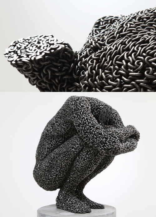 szymon:  Chain sculptures by Seo Young Deok