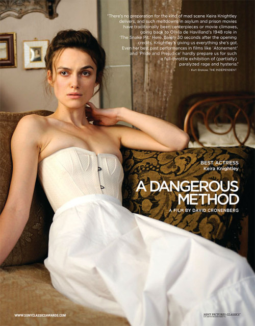 For Your Consideration - Keira Knightley for Best Actress in A Dangerous Method