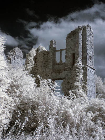 SLINGSBY CASTLE infrared by Mark Hylton on Flickr.