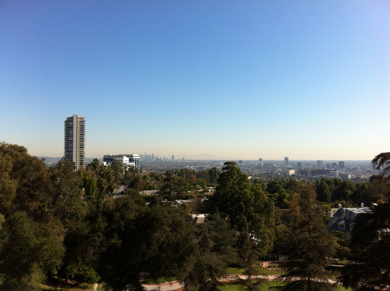 Lovely day in LA. (shot with my iPhone from Grey Stone park)