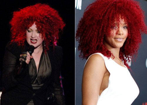 "Rihanna was inspired by Cyndi's hair from ""Memphis Blues"" ERA in 2010. Take your conclusions!"