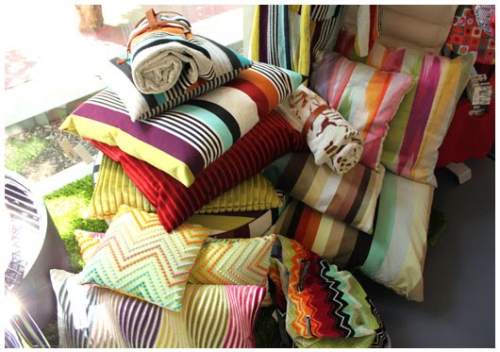 oooh what extremely colourful and stripey cushions