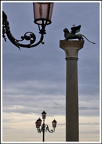 | ♕ |  Venetian Lion - icon of Piazza San Marco  | by © Rita Crane