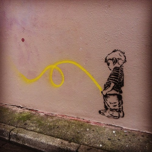 Against the wall #graffiti #streetart #stencil #humor #Sydney  (Taken with instagram)
