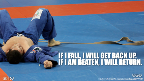 If I fall, I will get back up.