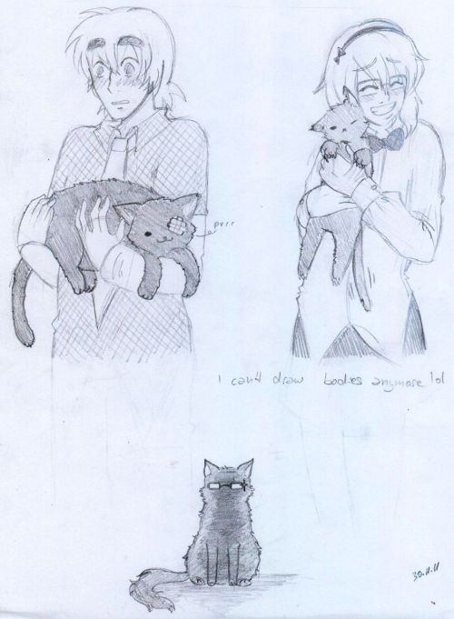 Our male Fallout 3 characters … as cats. I want that cat!hector ;_; ♥
